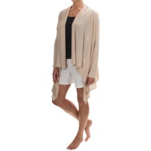 Calida Swetlana Open-Front Lounge Top - Stretch Modal-Wool, Long Sleeve (For Women) in Tan - Closeouts