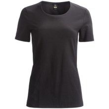 Calida Swiss Organic Cotton T-Shirt - Short Sleeve (For Women) in Black - Closeouts