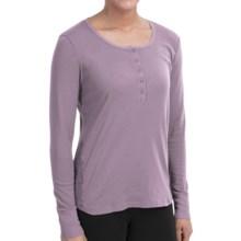 Calida True Classics Swiss Lounge Shirt - Organic Cotton, Long Sleeve (For Women) in Old Rose - Closeouts