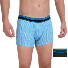Calida Twin Peak Boxer Briefs - 2-Pack, Stretch Cotton (For Men) in Black/Light Blue - Closeouts