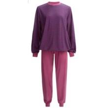 Calida Ursina Pants Pajamas - Long Sleeve (For Women) in Rose - Closeouts