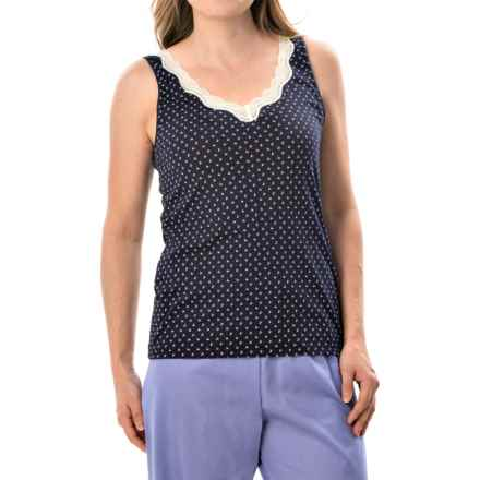 Calida Vanilla Crumbles Tank Top - Supima® Cotton (For Women) in Evening Blue - Closeouts