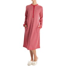 Calida Winter Wonderland Nightshirt - Long Sleeve (For Women) in Crimson - Closeouts