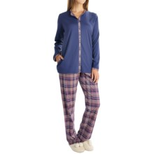 Calida Winter Wonderland Pajamas - Long Sleeve (For Women) in Seaman Blue - Closeouts