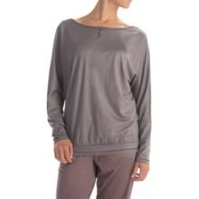 Calida Wishing Well Pajama Shirt - TENCEL®, Long Sleeve (For Women) in Rabbit Grey - Closeouts