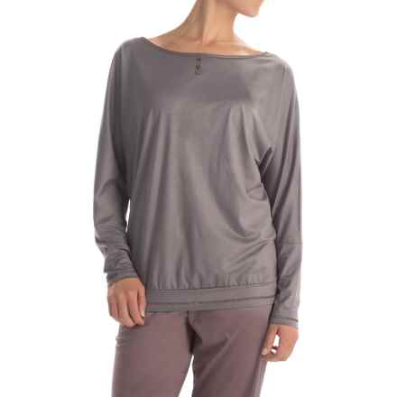 Calida Wishing Well Pajama Shirt - TENCEL®, Long Sleeve (For Women) in Rabbit Grey - Closeouts