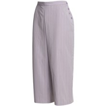 Calida Woven Cotton Capri Pajama - Mix and Match (For Women) in Wisteria - Closeouts