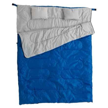 California Basics 3- to 4-Season Double Sleeping Bag in Blue/Grey - Closeouts