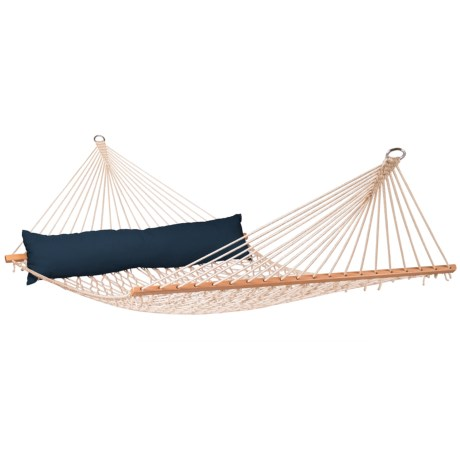 Image of California Navy Blue King-Size Spreader Bar Hammock with Pillow