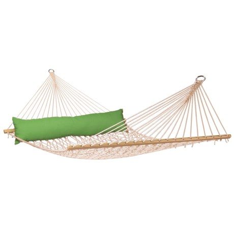 Image of California Weatherproof Rope Hammock with Pillow