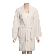 Calispia Chenille Robe - Birdseye Stitch (For Women) in White - Closeouts