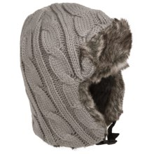 Callanan Cable-Knit Trapper Hat (For Women) in Grey - Closeouts