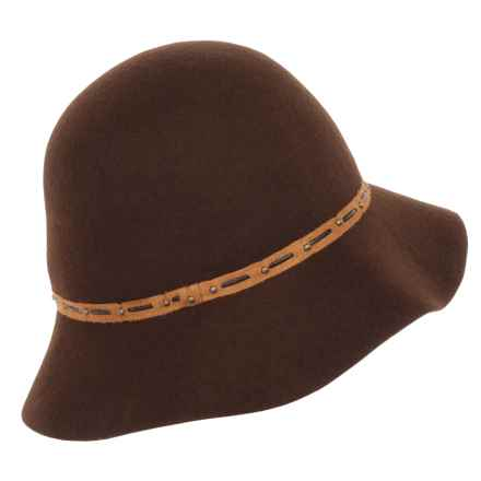 Callanan Felted Wool Cloche Hat (For Men) in Chocolate - Closeouts