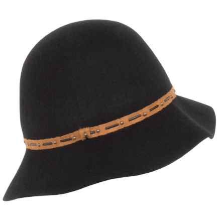 Callanan Felted Wool Cloche Hat (For Women) in Black - Closeouts