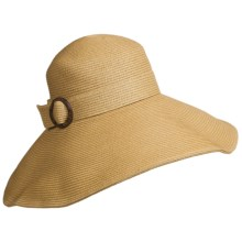 Callanan Resort Big Brim Hat - Crushable (For Women) in Natural - Closeouts