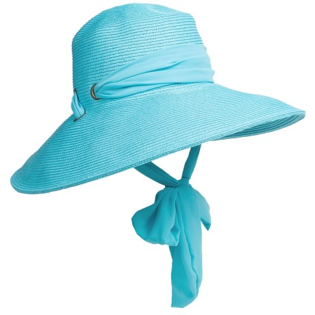 Callanan Resort Chiffon Ribbon Hat - Crushable (For Women) in Turquoise