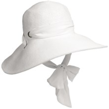 Callanan Resort Chiffon Ribbon Hat - Crushable (For Women) in White - Closeouts