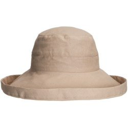 Callanan Resort Cotton Canvas Hat (For Women) in Taupe