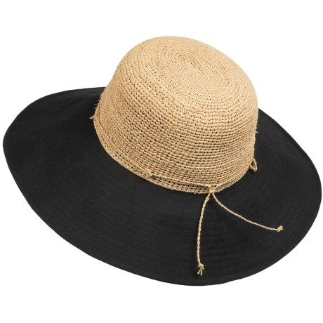 Callanan Resort Raffia Hat - Floppy (For Women) in Natural/Black
