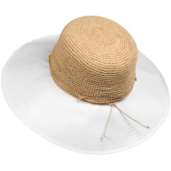 Callanan Resort Raffia Hat - Floppy (For Women) in Natural/Black