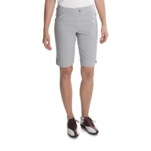 Callaway Azaela Striped Bermuda Shorts (For Women) in Cavir - Closeouts