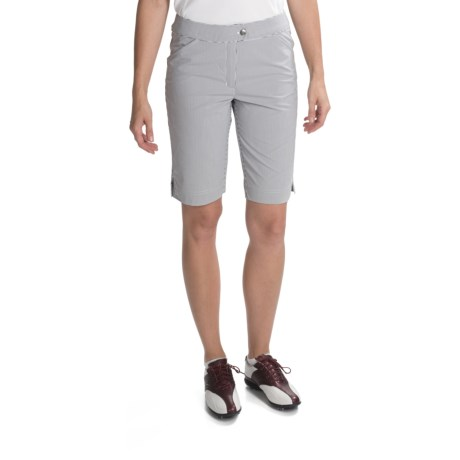 Callaway Azaela Striped Bermuda Shorts (For Women) in Cavir