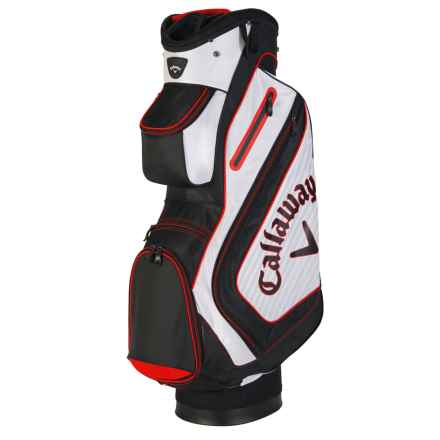 Callaway Chev Cart Bag in White/Black/Red - Closeouts