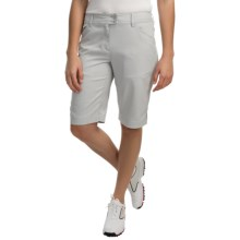 Callaway Chevron Bermuda Shorts - UPF 50 (For Women) in High Rise - Closeouts