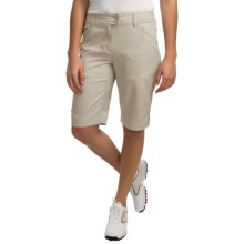 Callaway Chevron Bermuda Shorts - UPF 50 (For Women) in Silver Lining - Closeouts