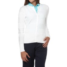 Callaway Draw Cardigan Sweater - Long Sleeve (For Women) in Bright White - Closeouts