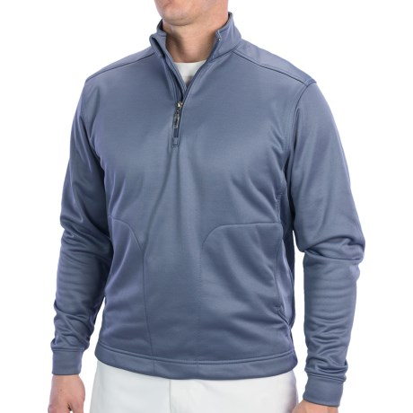 Callaway High-Performance Shirt - Zip Neck, Long Sleeve (For Men) in Navy