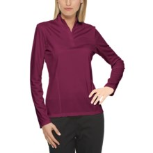 Callaway Mesh High-Performance Shirt - UPF 15+, Mock Neck, Long Sleeve (For Women) in Raspberry - Closeouts