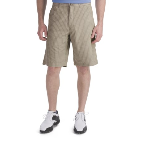 Callaway Mini Check Shorts  (For Men) in Silver Lining
