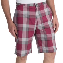 Callaway Modern Plaid Shorts (For Men) in Beet Red - Closeouts