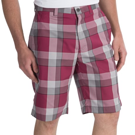Callaway Modern Plaid Shorts (For Men) in Beet Red