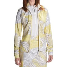 Callaway Olio Printed Jacket (For Women) in Bright White - Closeouts