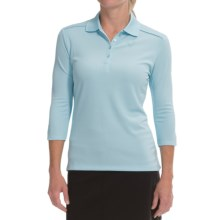 Callaway Opti-Dri Polo Shirt - UPF 50, 3/4 Sleeve (For Women) in Crystal Blue - Closeouts