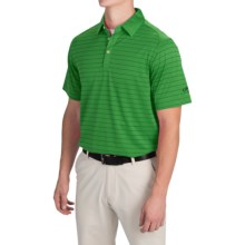 Callaway Opti-Dri Striped Polo Shirt - Short Sleeve (For Men) in Fern Green - Closeouts
