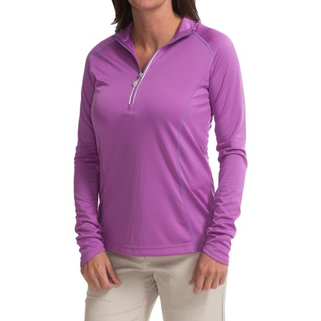 Callaway Opti Shield Pullover Shirt UPF 40+, Zip Neck, Long Sleeve (For Women)