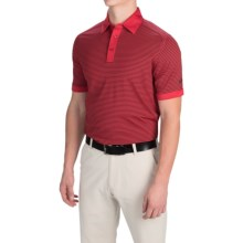 Callaway Opti-Vent Polo Shirt - Short Sleeve (For Men and Big Men) in Salsa - Closeouts