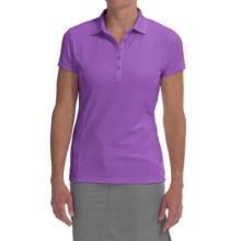 Callaway Outlast Polo Shirt - UPF 15, Short Sleeve (For Women) in Dewberry - Closeouts