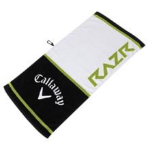 "Callaway Tour Authentic Razr Towel - 20x40"" in Whtie/Black/Green - Closeouts"