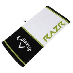 """Callaway Tour Authentic Razr Towel - 20x40"""" in Whtie/Black/Green"""