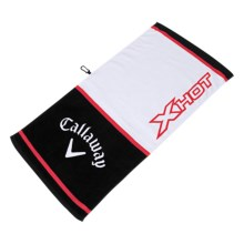 "Callaway Tour Authentic X-Hot Towel - 20x40"" in White/Black/Red - Closeouts"