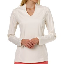 Callaway V-Neck Shirt - UPF 15+, Long Sleeve (For Women) in Egret - Closeouts