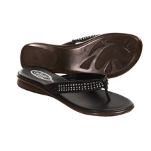 Callisto of California Jordi Sandals - Nappa Leather Thongs (For Women) in Black - Closeouts