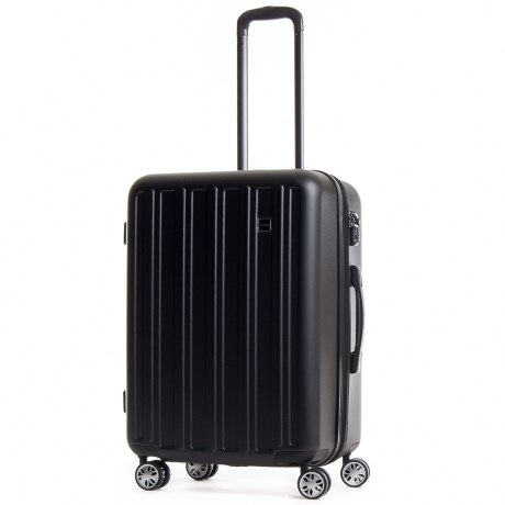 """CalPak 24"""" Wandr Collection Hardside Expandable Spinner Suitcase in Black"""