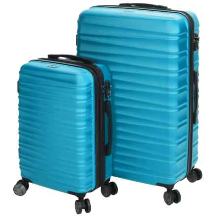 Calpak Anza II Expandable Carry-On and Spinner Suitcase Set - 2-Piece in Sea Blue - Closeouts