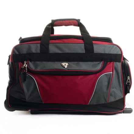 "Calpak Champ Rolling Duffel Bag - 21"" in Red - Closeouts"