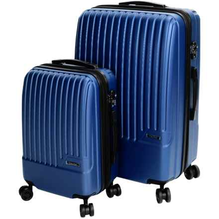 Calpak Davis Expandable Carry-On and Spinner Suitcase Set - 2-Piece in Blue - Closeouts